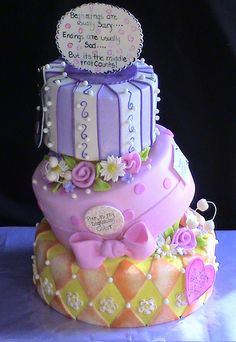 whimsical birthday cake by Cakes By Roselyn