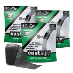 CASTtape - Super Epoxy Carbon Fiber Tape - 100x Strength of Duct Tape - Fix and Repair: Automotive, Plumbing, Pipe and Hose, Emergency, DIY - 3 Roll ProPack, 1' x 40' Rolls *** You can get more details here : DIY : Do It Yourself Today