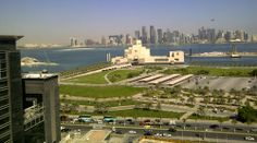 View on Doha from Coral Hotel, Doha, Qatar