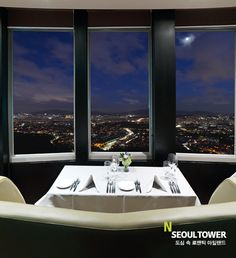 N'Seoul Tower...went here for our 6th anniversary..sat right there, with that view.