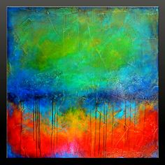 Oxidized Metal 7  Abstract Acrylic Painting  by CharlensAbstracts