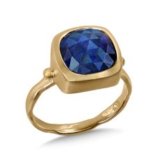 Adorn her in gorgeous Whitney Stern Jewelry like this beautiful Blue Sapphire Wave Ring in 14k Yellow Gold