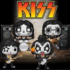 Paul Stanley, Banda Kiss, Rock And Roll, Kiss Art, Christmas Rock, Pop Toys, Pop Characters, Hot Band, Funko Vinyl