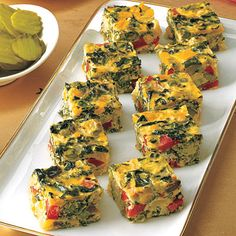 Vegetable Frittata Squares - use fresh veges instead of frozen, and this is very healthy!