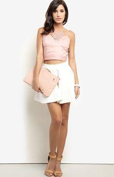 Summer Leatherette Circle Skirt