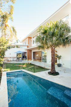 Backyard Reveal - Kyal & Kara : Kyal & Kara Surf House, Beach House, Outdoor Spaces, Outdoor Living, Backyard Plan, Tropical Houses, House Layouts, Coastal Homes, Beach Cottages