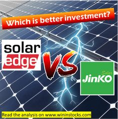 The pin is a link to my blog where I analyze stocks before I invest. This time I analyzed SolarEdge and JinkoSolar for best investment pick. Cost Of Goods Sold, Stock Analysis, Great Run, Best Investments, World Records, Solar Energy, Opportunity, Investing