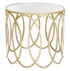 Ovation Hollywood Regency Silver Mirror Side Table. #kathykuohome