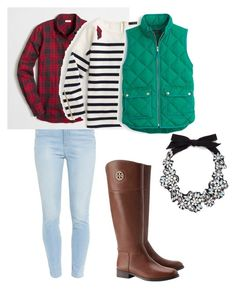 """winter"" by edgy-private-school on Polyvore featuring J.Crew, Paige Denim, Tory Burch, women's clothing, women, female, woman, misses and juniors"