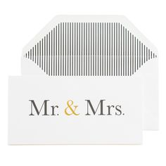 Mr & Mrs - Gift Card – The Thoughtful Gifter