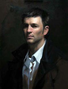 Shane Wolf, Aaron. Oli sobre tela, 60 x 40 cm.
