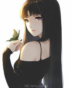 How to draw realistic EYES Dark Anime, Anime Girl With Black Hair, Cool Anime Girl, Pretty Anime Girl, Beautiful Anime Girl, Anime Art Girl, Anime Girls, Manga Girl, Manga Kawaii