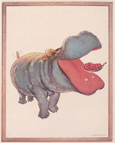 Artist Unknown, Jello - Hippo