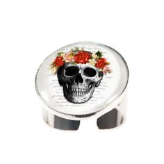 Silver Skull Ring - Joli 2014 collection. www.fabuleuxvous.com Silver Skull Ring, Dog Bowls, Grid, Rings, Collection, Jewelry, Style, Swag, Jewlery