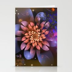 Cosmic flowers in universe Stationery Card
