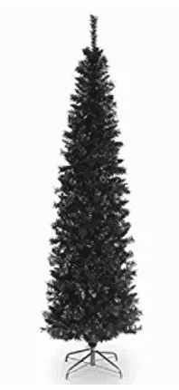 National Tree 6 Foot Black Tinsel Tree with Metal Stand Best Artificial Christmas Trees, Tinsel Tree, Look Good Feel Good, Coloring Books, Christmas Decorations, Metal, Top, Black, Floral