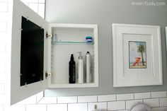 While your home may be short on visible storage, there are lots of hidden spots that are just waiting to be used. Read through our suggestions and then find these hidden storage spaces in your home and never shout about lack of storage again! Home, Small Bathroom, Home Organization, Surface Mount Medicine Cabinet, Space Saving Hacks, Laundry In Bathroom, Storage Hacks, Hidden Storage, Bathroom Storage