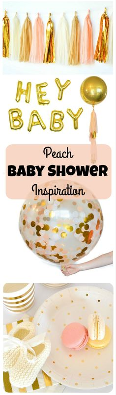 Pretty Peach and Gold Party Decorations