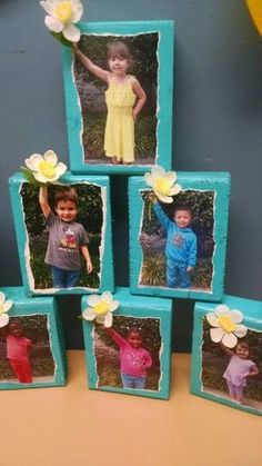 Craft we made for Mother's Day gift. They turned out so cute!