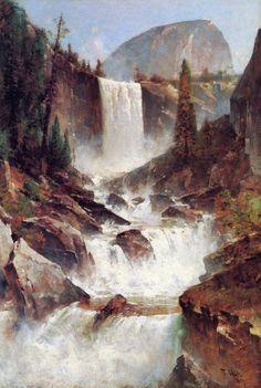 The Athenaeum - Vernal Falls, Yosemite (Thomas Hill - )