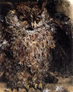 The Owl 1868 by Adolph von Menzel