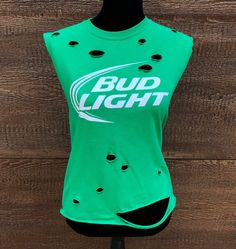 402076e92e19a BUD LIGHT Beer Rebel Fray Custom Distressed Women s Vintage Shirt