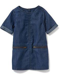 57d91415d Girls' denim dress in star print | Cool | Girls denim dress, Girls casual  dresses, Jeans dress
