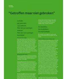 'Getroffen maar niet gebroken' - een verhaal van mijn hand in Magazine Nat. Veiligheid over het Huis van Verhalen /  Vuurwerkramp Enschede
