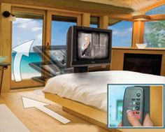 Dream Machine Offers Under The Bed Tv Lift Saving Space At End Of