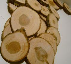 250 Tree Branch Slices Wooden DIY Wedding Favor Decor 2 to 3 inch. $160.00, via Etsy.