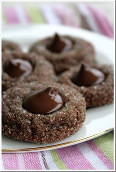 Sparkling cocoa Mint Truffle Cookies  | Doughmesstic