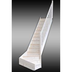 escalier gomera quart tournant en bois 14 marches escaliers pinterest ps. Black Bedroom Furniture Sets. Home Design Ideas