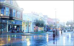 Eureka California docks | Old Town Street Scene – 2 nd Street in the Mist