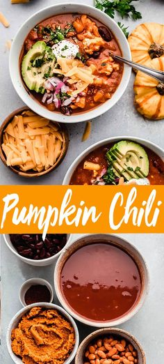 This easy Pumpkin Chili is deliciously rich & creamy. Made with ground turkey, pumpkin puree, pinto & kidney beans and your favorite chili spices. It will be on your table in 30-minutes! With options to make it on the stove top, in the slow cooker or in the Instant Pot. // recipe // crockpot // vegan // vegetarian // paleo // keto // healthy Pumpkin Chili, Canned Pumpkin, Pumpkin Puree, Chili Recipes, Crockpot Recipes, Vegan Recipes, Cooking Recipes, Pie Recipes, Dessert Recipes