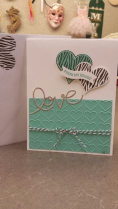 Stampin Up Groovy Love...my valentine card 2015