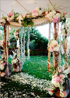 Floral arch for an outdoor wedding - Carats & Cake Wedding Chuppah, Wedding Canopy, Wedding Ceremony, Our Wedding, Green Wedding, Wedding Flowers, Wedding Dresses, Two Birds Bridesmaid, Outdoor Wedding Inspiration