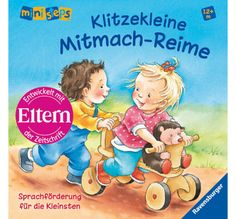 Klitzekleine Mitmach-Reime Toddler Books, Mini, Baseball Cards, Fictional Characters, German, Books For Toddlers, Parents, Deutsch, German Language