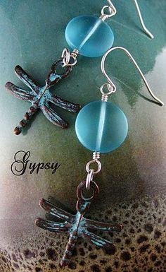 Handmade earrings from Gypsy Jewels.