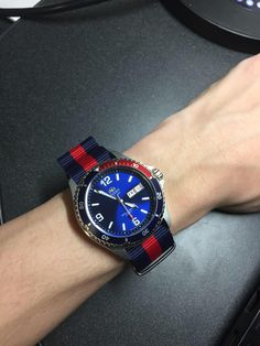 [Orient Mako ii with Pepsi bezel] Thoughts on the nato strap? http://ift.tt/2BeJF4C
