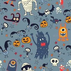 Halloween Hand Drawn Seamless Retro Pattern #GraphicRiver Halloween cartoon bright seamless. Background Created: 3 December 13 Graphics Files Included: JPG Image #Vector EPS Layered: No Minimum Adobe CS Version: CS Tags baby #background #bat #black #bones #broom #fear #fun #ghost #halloween #hand drawn #holiday #horror #magic #orange #pattern #pumpkin #retro #scary #seamless #silhouette #skeleton #skull #texture #trolley #vector #wallpaper #witch #witchcraft #wrapping