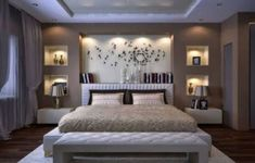 Image of: modern bedroom wall designs master bedroom image of modern bedroom wall decor cute Bedroom Furniture Design, Bedroom Wall Designs, Ceiling Design Bedroom, Home Bedroom, Bedroom False Ceiling Design, Bedroom Design, Luxurious Bedrooms, Modern Bedroom, Bedroom Wall