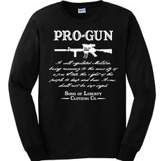 "Bundle of 3 items. Pro-Gun Second Amendment . LRG Black Long Sleeve. Bundle of 3 items: T-shirt, Pocket Constitution & 4.5"" decal. Official Sons of Liberty Tees® Gear. Printed in USA. Second Amendment / Pro Gun T-Shirts. Screen Printed on a Long Sleeve Port and Company shirt, imported. 6.1 oz. 100% Pre-Shrunk Cotton Tee. Second Amendment / Pro Gun T-Shirts, Pro-America and Patriot Apparel - made by a small American owned business, by a couple of die hard patriots. Long Sleeve Shirt is…"