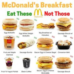 The best and worst of Mcdonalds breakfast – The worst: – Big breakfast with h…, - Vegan Fast Food Healthy Mcdonalds Options, Healthy Fast Food Options, Fast Healthy Meals, Healthy Fast Food Breakfast, Keto Fast Food, Low Calorie Fast Food, Food Calorie Chart, Low Calorie Recipes, Gastronomia