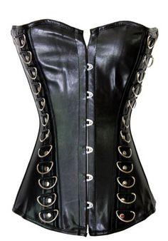 Burlesque Clothing | Punk Leather Burlesque Corset #dominatrix Only $69.99