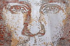 chiseled facade portraits 'Scratching the Surface' : artist Alexandre Farto (aka vhils)
