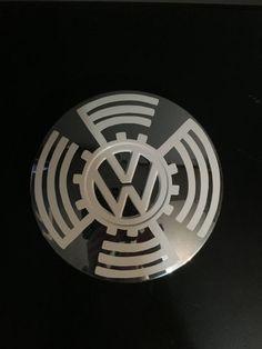Vintage Volkswagen Rabbit Hubcap hand painted by VanePinstriping