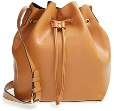 Sole Society 'Nevin' Faux Leather Drawstring Bucket Bag // $60