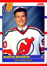 1990 Score Hockey Martin Brodeur New Jersey Devils RC Rookie Hot Hockey Players, Ice Hockey, Total Hockey, New Jersey Devils, Martin Brodeur, Nhl Jerseys, Thing 1, Hockey Cards, Sports Figures