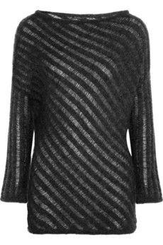 Donna Karan Ladder-Stitch Mohair-Blend Sweater
