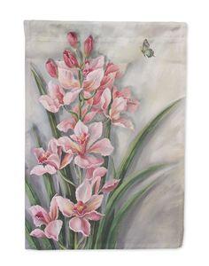 Orchids by Judith Yates Flag Garden Size JYJ0071GF